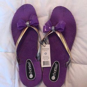 Cute and feminine flip flops